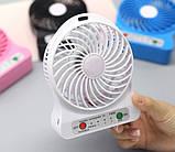 Настольный мини вентилятор на аккумуляторе, фото 2