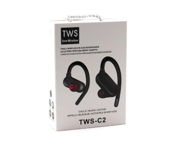 Наушники Mdr Tws C2BT sport черные 178973