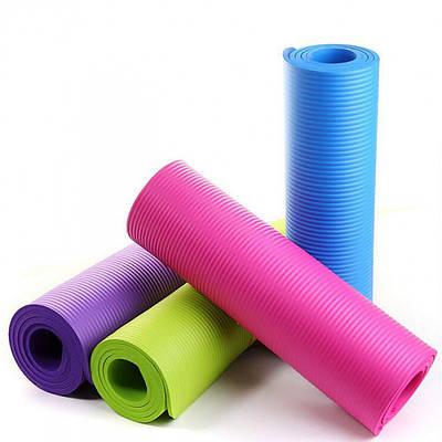 Коврик каремат для йоги фитнеса и спорта 61х173 см толщина 0,5 см 150735