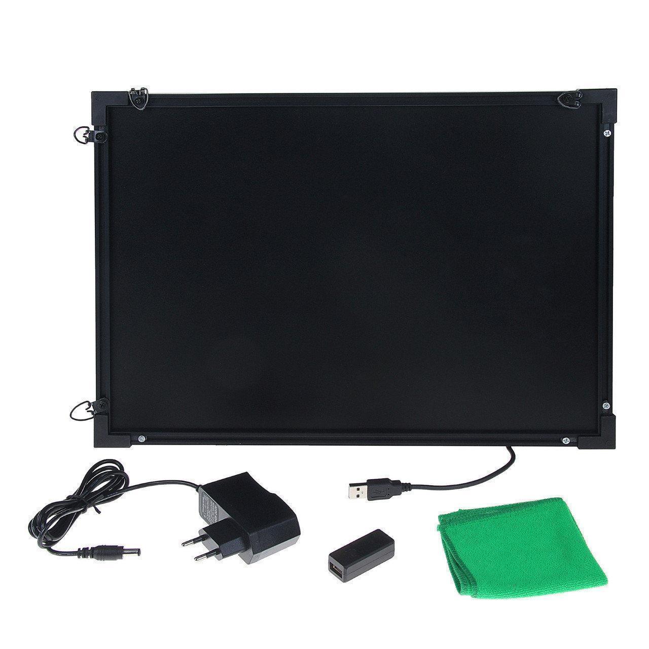 Світлодіодна дошка Fluorecent Board With Stand 5070 на стійці c фломастером і серветкою 181129