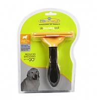 Щетка фурминатор для вычесывания собак и кошек с кнопкой 13 см Fobnimarut Large Dog 130753