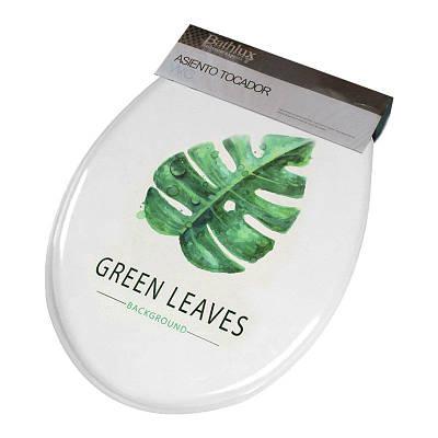 Сиденье с крышкой для унитаза Bathlux Green Leaves 50515