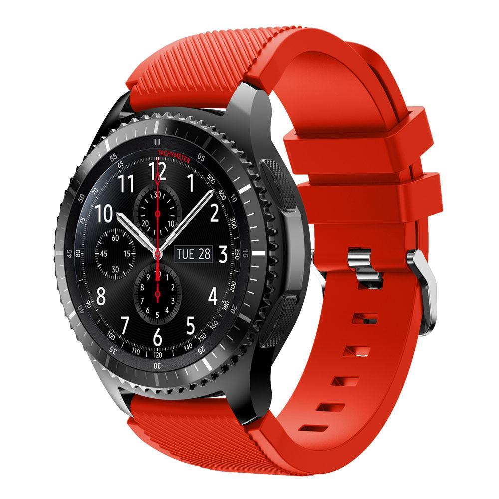 Ремінець  Samsung Gear S3 Frontier, Classic 22mm, красний браслет для годинника , FS1765-35