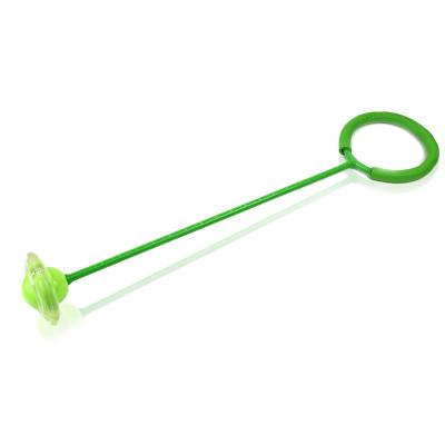 Скакалка на одну ногу светящаяся Led зеленая 149891