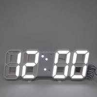 Электронные настольные часы с большими цифрами LY 1089 S с будильником, термометром и Led подсветкой Белый