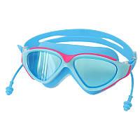 Очки для плаванья Conquest anti-fog защита голубые 150061, фото 1