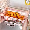 Контейнер органайзер для холодильника подвесной раздвижной Stretchable Hanging Storage Rack 183123, фото 2
