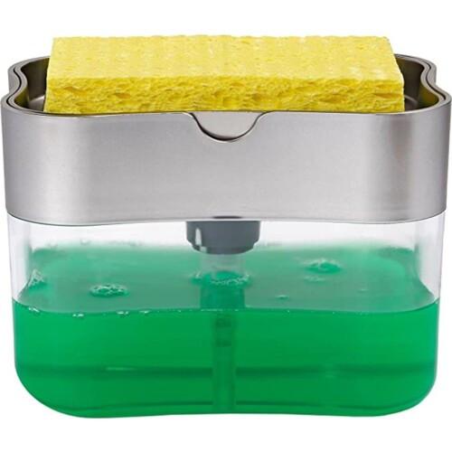 Органайзер для мочалок с дозатором мыла Soap Pump Sponge Caddy 182970