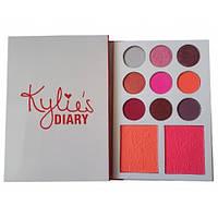 Палетка теней и румян Kylie Diary Pressed Powder Palette 174776