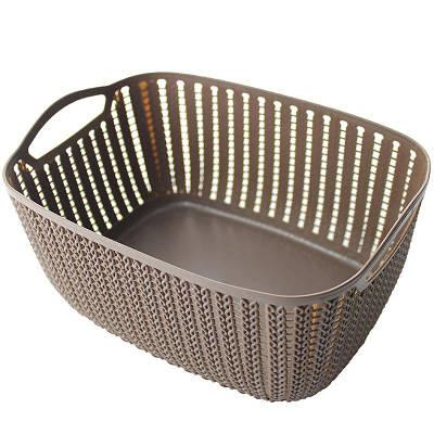 Корзинка для полотенец плетение 2 л Bathlux Stone 70273 132657