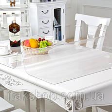 Скатерть Мягкое стекло для стола и мебели Soft Glass (2.4х1.8м) толщина 0.5 мм Прозрачная, фото 3