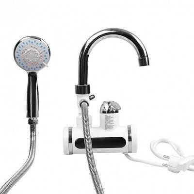 Водонагреватель проточный кран с подогревом с душем и дисплеем боковое подключение 149993