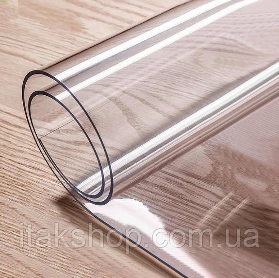 Скатерть Мягкое стекло для стола и мебели Soft Glass (2.4х1.8м) толщина 0.5 мм Прозрачная