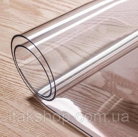 Скатерть Мягкое стекло для стола и мебели Soft Glass (2.4х1.8м) толщина 0.5 мм Прозрачная, фото 2