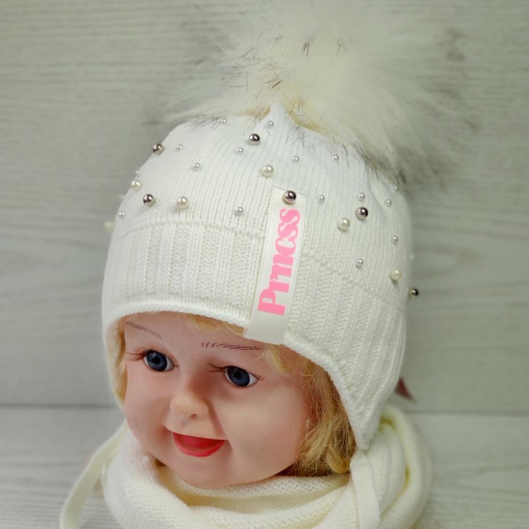 Комплект для девочки (шапка+хомут) Ambra B22 Размер 44-46 см Возраст 6-12 месяцев