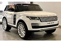 Двухместный детский электромобиль Джип M 4175 EBLR-1, Range Rover, 4 мотора 35W, колеса EVA, кожа, белый