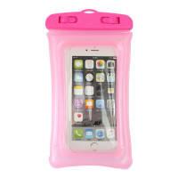 Водонепроницаемый чехол для телефона с ремешком розовый 150045