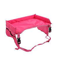 Столик детский для автокресла в авто Play n Snack Tray розовый 182978