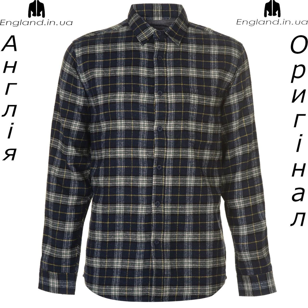 Размер L (наш 50й) - Рубашка в клетку мужская Pierre Cardin из Англии - на длинный рукав