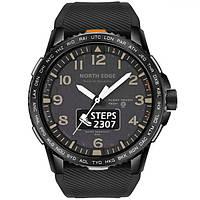 Мужские умные смарт часы North Edge Float 5 bar Black