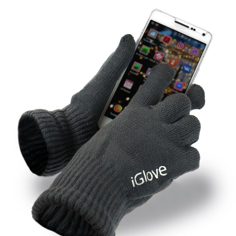 Перчатки iGlove для сенсорных экранов серые 138987