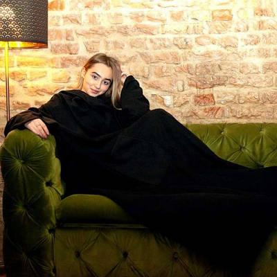 Плед с рукавами одеяло из флиса Snuggie Черный 183308