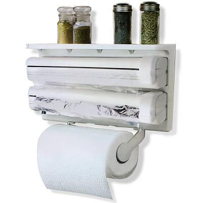 Кухонный диспенсер для бумажных полотенец, пищевой пленки и фольги Triple Paper Dispenser 149969