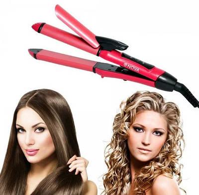 Плойка для волос утюжок 2 в 1 Nova 153066