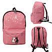 Городской рюкзак для девочек 4 предмета Котики розовый 154085, фото 3