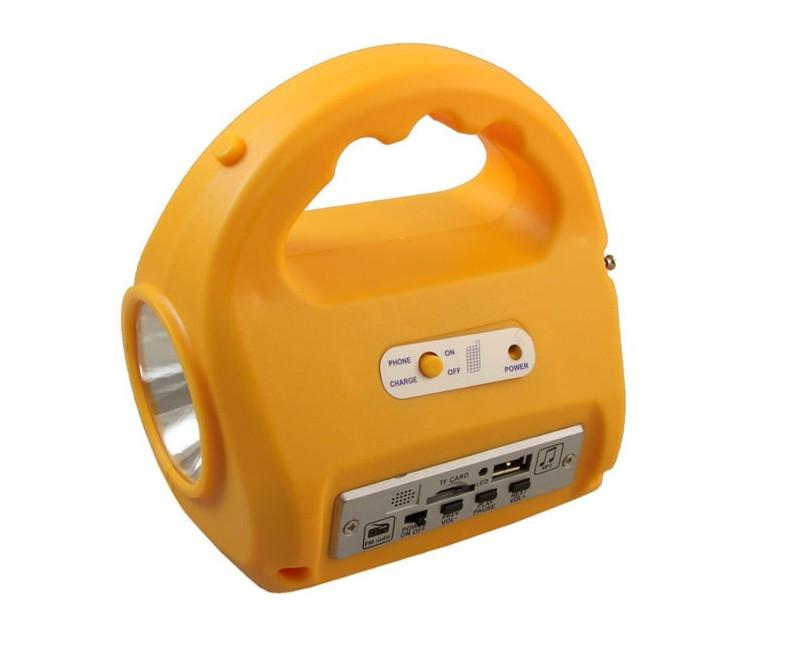 Кемпинговый фонарь с солнечной батареей и радио No: 7655