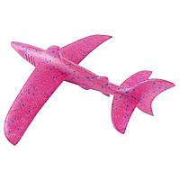 Детский метательный планирующий самолетик акула Shark малиновый 149831, фото 1