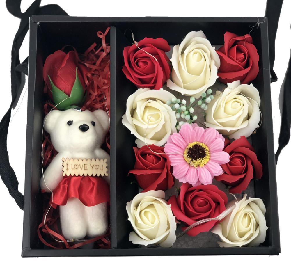 Подарочные наборы мыла из роз с мишкой XY19-79 181884