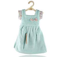 Махровое полотенце Платье для рук 33х33 см SH88828 голубое 149132