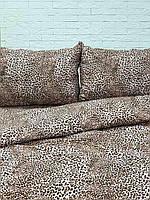 Комплект постельного белья Леопард коричневый