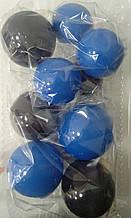 """Набір """"Кульки святкові (9шт) синьо/чорні"""