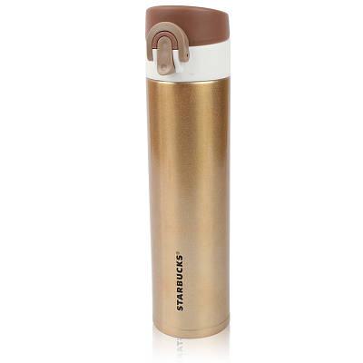 Термос 480 мл термокружка с поилкой Starbucks Stn 1 Gold золото 130184