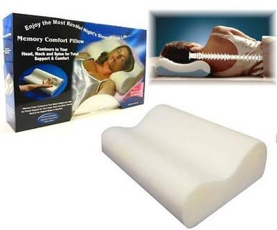 Подушка ортопедическая с эффектом памяти Memory Pillow 132221