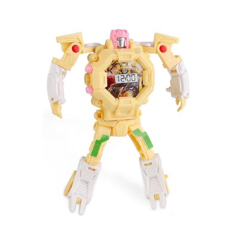 Детская игрушка часы робот трансформер Sunroz Robot Watch желтый 132440
