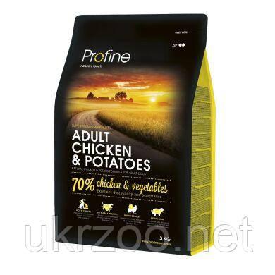 Сухой корм для взрослых собак всех пород Profine Adult Chicken 3 кг (курица) 170540