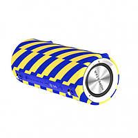 Портативная акустическая Bluetooth колонка Hopestar H39 влагостойкая желто-синий 154682