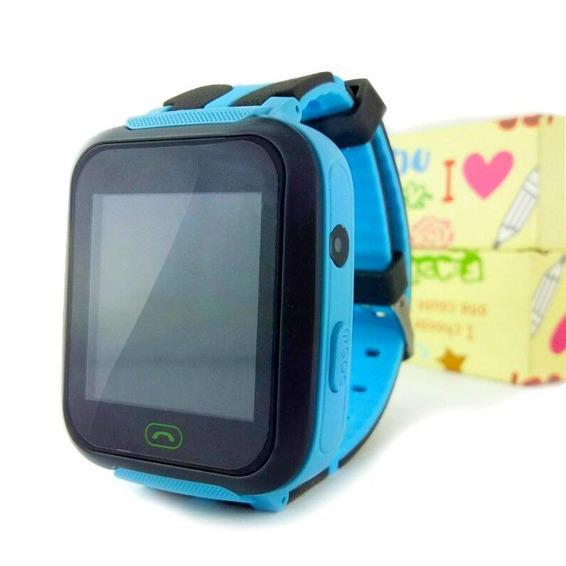 Детские смарт часы Smart Z-3/A-25S c GPS-трекером голубые 130633
