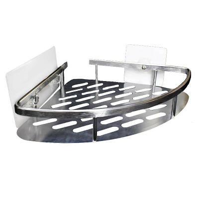 Полочка угловая для аксессуаров в ванную на липучке 5кг SQ-5092 132856