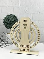Настольный вечный календарь с индивидуальной гравировкой или логотипом на заказ