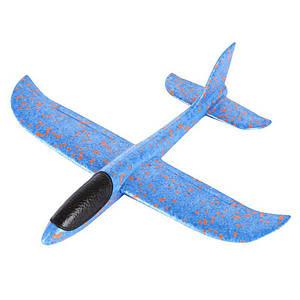 Детский метательный планирующий самолетик Mini 37 см синий 131696