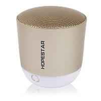 Портативная акустическая Bluetooth колонка Hopestar H9 золотистая 140054