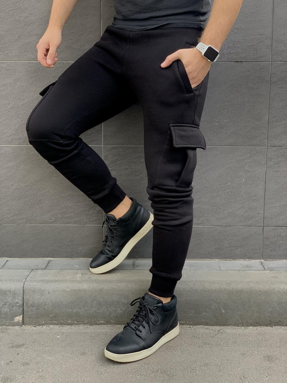 Чоловічі штани карго на флісі зима