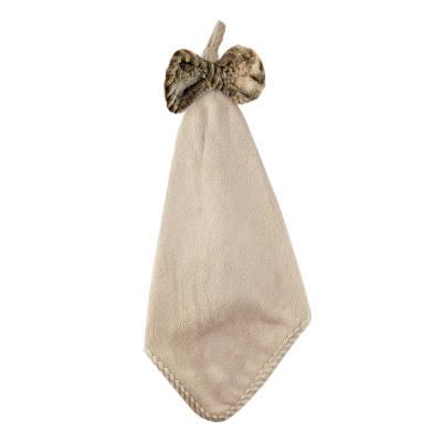 Махровое полотенце для рук Бантик 34х34 см SH88223 бежевое 149135