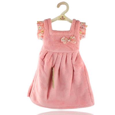 Махровое полотенце Платье для рук 33х33 см SH88828 розовое 132184