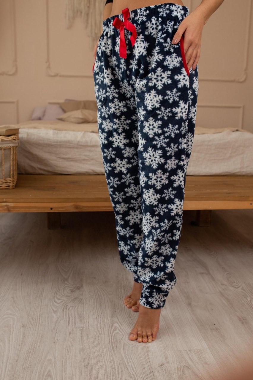 Домашние теплые штаны женские флис