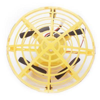 Дрон ручной летающий беспилотник для начинающих с предотвращением препятствий для детей Airset желтый 154444